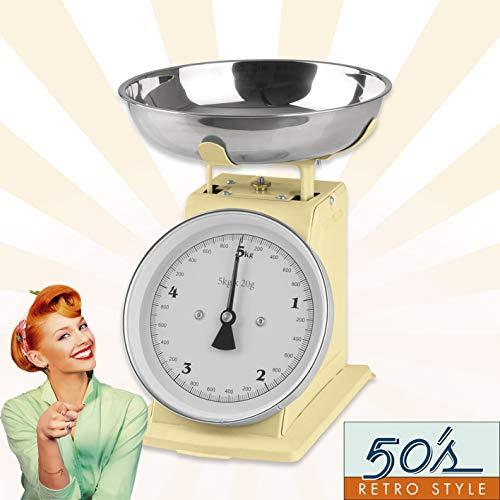 GOURMETmaxx - Báscula de Cocina analógica, diseño Retro