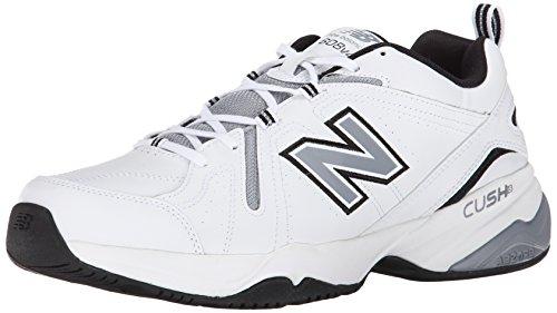 New Balance Men's MX608V4 Training Shoe,Black,10 D US White/Black