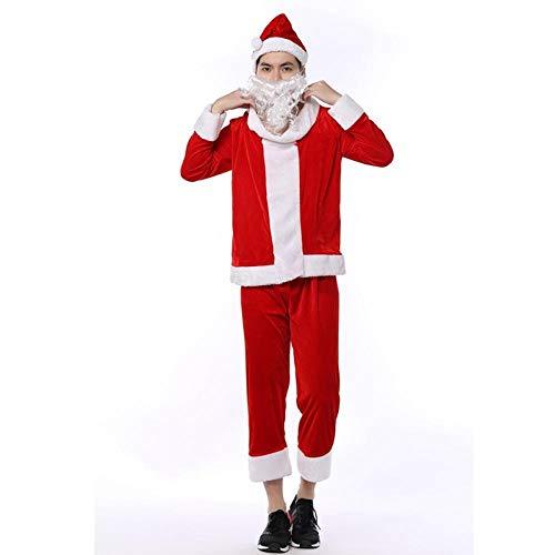 TUWEN WeihnachtskostüM Weihnachten-Kostüm-Party Dress up Santa Claus für männliche - Männlich Weihnachten Kostüm
