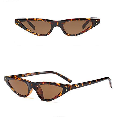 YLNJYJ Vintage Cat Eye Sonnenbrille Marke Neue Frauen Klassische Kleine Cateye Oval Steampunk Niet Sonnenbrille Mode Sonnenbrille Shades