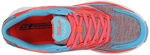 Skechers Go Run Ride 4 excess, Running Entrainement Femme Blue/Coral
