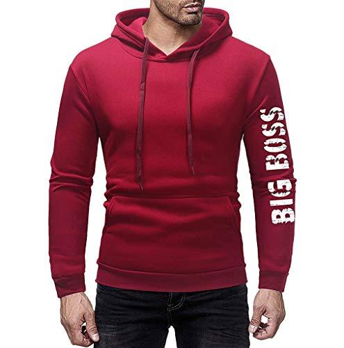 Sweat à Capuche Homme, Printemps Automne Hiver Sweat-Shirt Manteau Veste AméLiorer Pas Cher Hoodies LâChe DéContracté Pullover Sweat-Shirt Chemisier Ro