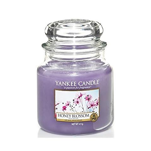 Yankee Candle Medium Jar Candle, Honey Blossom