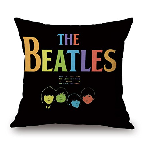 Easternproject Classic Band The Beatles Überwurf Kissenbezüge Baumwolle Leinen Jute Quadratischer Kissenbezug Displayschutzfolie Home Sofa Kissenbezüge 45,7 x 45,7 cm 18'' x 18'' 01