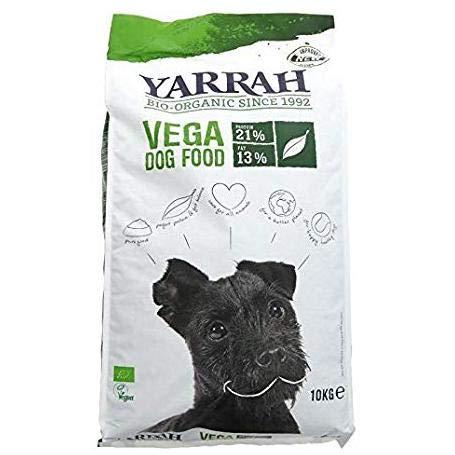 YARRAH Cibo Secco Biologico Vegano per Cani - Gustose Crocchette Vegetariane/Vegane con Soia, Oilio di Cocco, Lupini Bianchi e Baobab - Ideale per Tutti i Cani Adulti - 2kg
