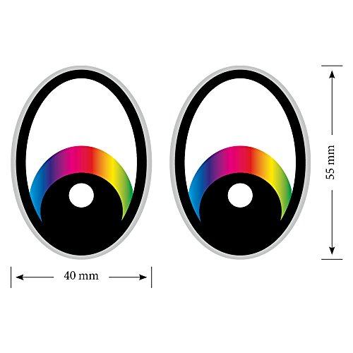 Augen Regenbogen Saugroboter,Aufkleber,Staubsauger Roboter,Sticker,Eye,Stickers,Mähroboter Grau Rasenmäher Mähroboter
