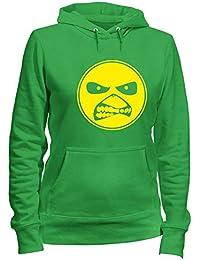 Sudadera con Capucha para Las Mujeras Verde TUM0181 Ultras Hooligans