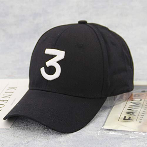 YPORE Unisex Vintage Number 3 Twill Cotton Visor Cap Vintage Adjustable Curved Hat Solid Color Trend Couple Baseball Cap Gorra De Beis Solid Twill Visor