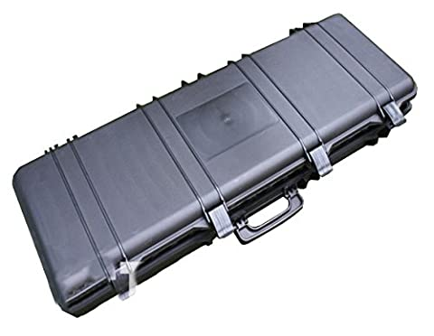 Airsoft Rifle Case Safe And Secure Airsoft Carrying Case (105CM) HTUK® (Black)