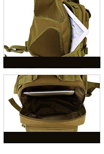 YAAGLE Fahrradtasche outdoor Gepäck Schultertasche militärisch Brustbeutel IPAD Kameratasche Kuriertasche Sporttasche-schwarz Tarnung 1