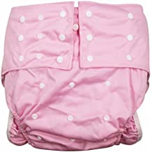 lukloy Mujer Adultos pañales para incontinencia cuidado ropa interior de protección–doble apertura bolsillo lavable reutilizable leakfree para cintura ajustable grande tamaño 65~ 135cm)