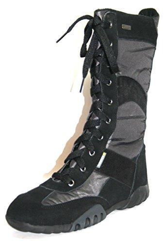 Juge-chaussures 21.3421, bottes fille - Schwarz (schwarz/asphalt 2021)
