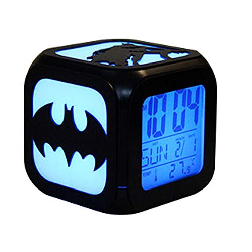 CLXYA LED Reloj Despertador Digital Despertador Creativo de Dibujos Animados USB Cargando Despertador Despertador - Regalo de los niños,003