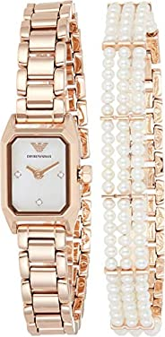 Emporio Armani Women's Mother Of Pearl Dial Stainless Steel Analog Watch - AR11323, Rose