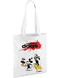 DisneyWorld Dogs (Tarantino's Reservoir Dogs) - White Polyester Shopper Bag