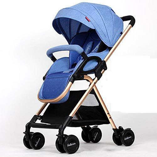 Shisky Sitzbuggys, Kinderwagen,Baby Kinderwagen kann sitzen kann liegen leichte Falten Aussetzung BB Hand-Push Sonnenschirm Kleinwagen 0-3 Jahre alt - 2 Sonnenschirm 1