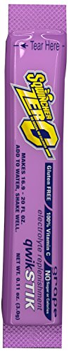 Powdered Drink Mix (Sqwincher ZERO Qwik Stik - Sugar Free Electrolyte Powdered Beverage Mix, Grape 060107-GR (Pack of 50))