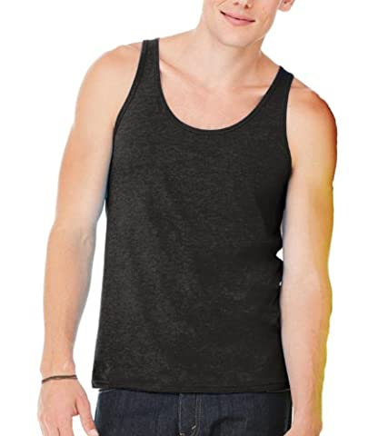 Bella And Canvas Unisex Adults Jersey Tank Top Black XX-Large