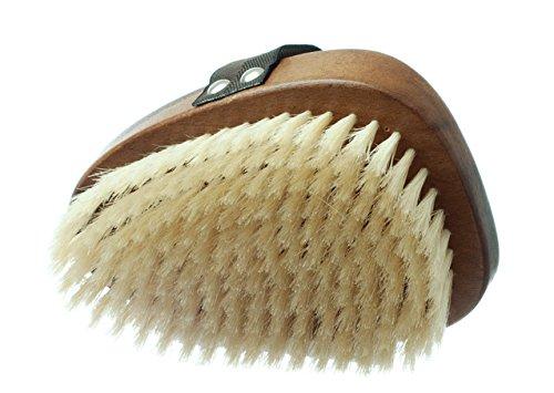 Nuss Holz Körperbürste mit natürlichen Borsten- Luxus Geschenk