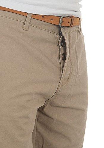 REDEFINED REBEL Panama Herren Chino Shorts mit Gürtel Beige