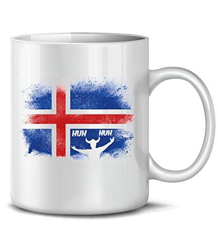Golebros Island Iceland Fan Artikel 5950 Fuss Ball Welt Europa Meisterschaft EM 2020 WM 2022 Kaffee Tasse Becher Geschenk Ideen Fahne Flagge Team Weiss