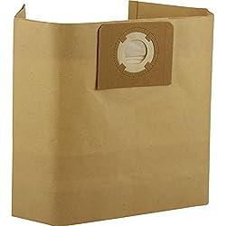 Kenekos Lot de 12 sacs pour aspirateur eau et poussière/aspirateur industriel Sacs d'aspirateur en papier avec plaque en carton solide Volume env. 30 l, Masko I K 606DW