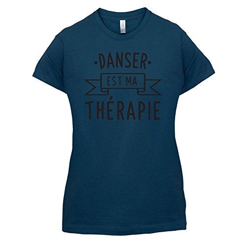 Danser est ma thérapie - Femme T-Shirt - 14 couleur Bleu Marine