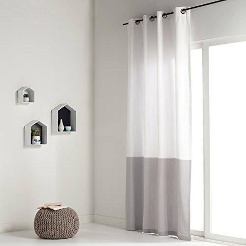 La redoute interieurs tenda bicolore puro cotone aguri taglia 260 x 140 cm ecru