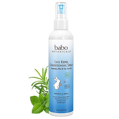 Babo Botanicals Lice Repel Conditioning Spray, 8 Ounce - Shampoo, Rosemary Mint Tea Tree