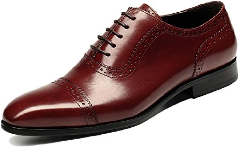 Zapatos De Cuero De Los Hombres Negro Corbata Casual Suave De Cuero De Los Hombres Zapatos De Vestir Zapatos De... -