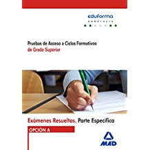 Exámenes Resueltos de Pruebas de Acceso a Ciclos Formativos de Grado Superior. Parte específica. Opción A. Andalucía