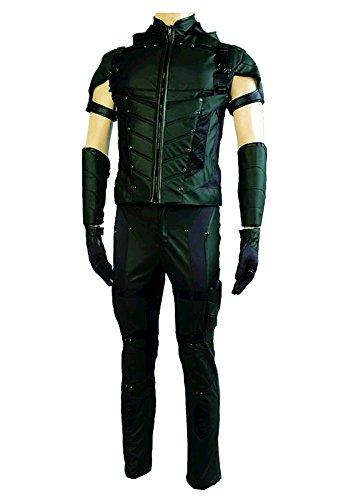 Fuman Green Arrow Season 4 Cosplay Kostüm (Ohne Quiver) (Erwachsene Arrow Green Kostüm Für)