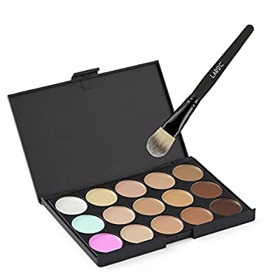 LaRoc 15 Shade Colour Concealer Contour Makeup Palette Kit Make Up with Cosmetic Brush