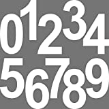 20 Stück 15cm weiß Ziffer Ziffern Zahl Zahlen Nummer Hausnummer Aufkleber die cut Tattoo Deko Folie