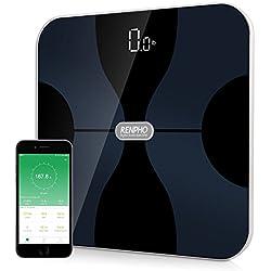 RENPHO Báscula corporal digital inalámbrica con App para Android e IOS para administrar el peso corporal, grasa corporal, agua, músculos, IMC, BMR, masa ósea y grasa visceral
