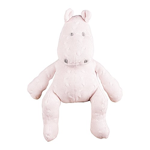 Baby's Only 135701Plush Hippo Design Braided Classic Pink Size: 35cm