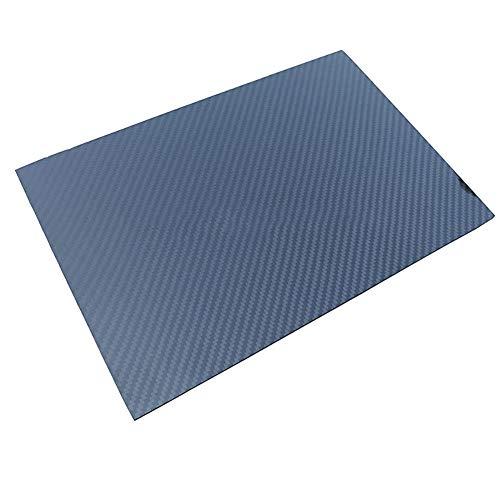 SOFIALXC Carbonfaserplatten Composites Platte 100% Vollcarbonplatte Twill, glänzende Oberfläche Blatt DIY Spielzeug Material Faserplatte für Modellbau-200x300mm-6mm