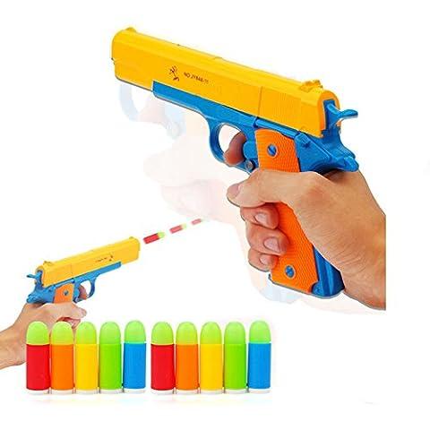 anray bambini giocattolo di Pistole M1911classico Toy Gun, bambini giocattoli colorati di fucile con morbida Noctilucent Bullets, Insegnare Shooter e fucile di sicurezza per il divertimento all' aperto e giochi per bambini sicuro giocare