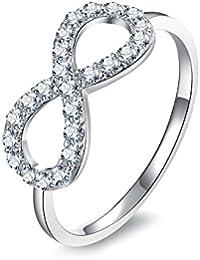JewelryPalace Anillo en 925 Plata de ley en forma de Infinito de boda
