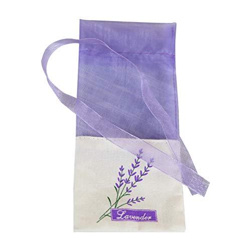 LIOOBO Lavendel Beutel Leere Duft Blumendruck mit Kordelzug Duftsäckchen 30 Stücke Hell Lila