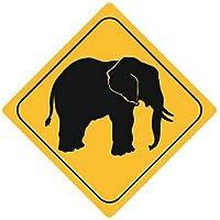 Autoaufkleber Sticker Achtung Elefant Aufkleber