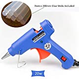 7mm Mini Hot Melt Glue Gun 20w Art and Craft Making Kit Small Electric UK Plug Low Temperature with 10pcs Glue Sticks 200mm (Length) Adhesive for Kids Professionals School Children