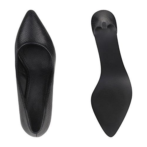 Scarpe Da Donna In Pizzo Scarpe Con Tacco Alto Scarpe Da Sera Classiche Scarpe In Camoscio Look Fibbie Stampa Croco Flandell Nero Croco