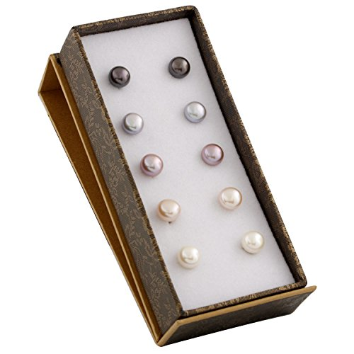 Bella Pearls -  Damen- Set Ohrringe Silver Pearl Set