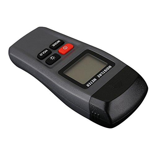 MagiDeal Klassischer Feuchtemesser Digital LCD Holzfeuchtemessgerät 2 Pin Sensor Feuchtigkeit Meter Damp Detector Tester Holz Hygrometer Hohe Präzision