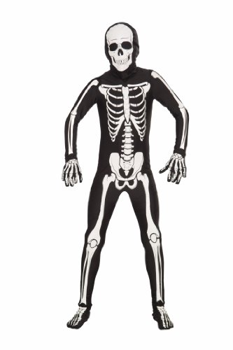Forum Novelties I'm Invisible Costume Stretch Body Suit, Skeleton, Child Medium (Invisible Kid Kostüm)