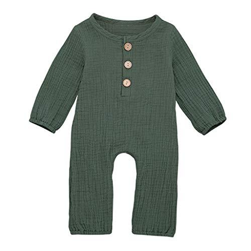 jerferr Softshell Overall Neugeborenen Jungen Baumwolle Leinen Feste Strampler Overall Kleidung (Baby Alte Oma Kostüm)