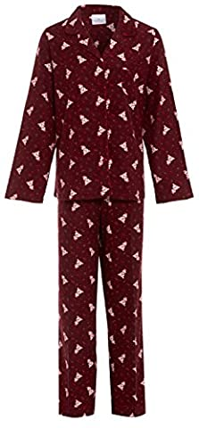 Ladies Winceyette Pyjamas Animal Teddy Bear Wincy 100% Flannel Cotton