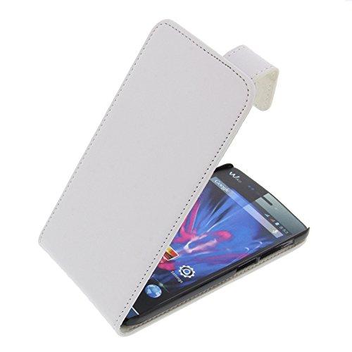 foto-kontor Tasche für Wiko Wax Wax 4G Flipstyle Schutz Hülle Handytasche weiß