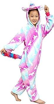 Ruiuzioong Unicornio Onesie para niños Pijamas Animales Cosplay Halloween Unisex Disfraz